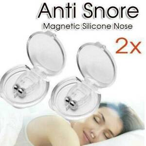 2-Clipple-Silicone-Magnetic-Anti-Snore-Stop-Snoring-Nose-Clip-For-Sleeping-Aid