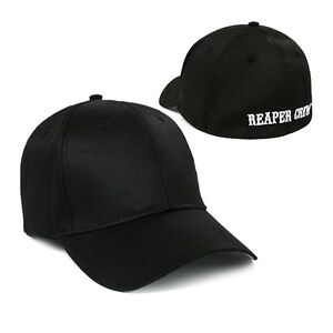 en soldes c8937 a67ae Details about Adult Biker TV Show SOA Sons of Anarchy Reaper Crew Fitted  Baseball Cap Hat