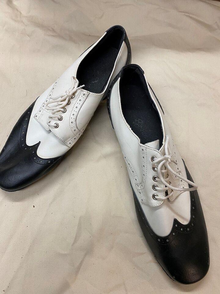 Dansesko, PP301 Black & White mens Leather, Party Party
