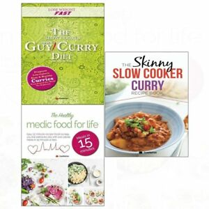 Skinny Slow Cooker Curry Collection Diet Recipe Simple Low Calorie 3 Books Set Ebay