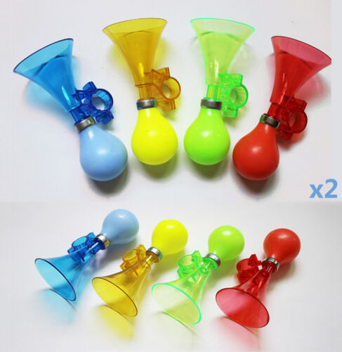 1 Pcs Bike Bicycle Cycling Plastic Air Horn Honking Hooter Kids Squeeze Be#ase