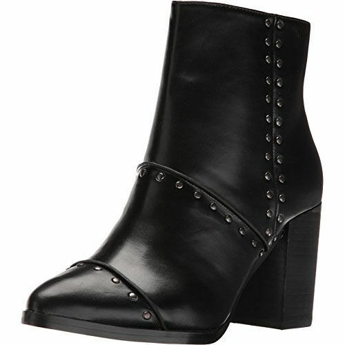 Report 'Jael' Black Studded Vegan Leather Ankle Boot sz 9 M new