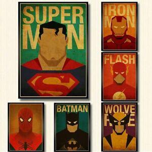 18x-Marvel-Superhelden-DC-Comic-Bild-Poster-Film-Superhero-selten-sammeln-Deko