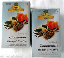 "2 Boxes x 20 ""BULGARIAN HERB"" Filter Tea bags Chamomile, Honey and Vanilla"