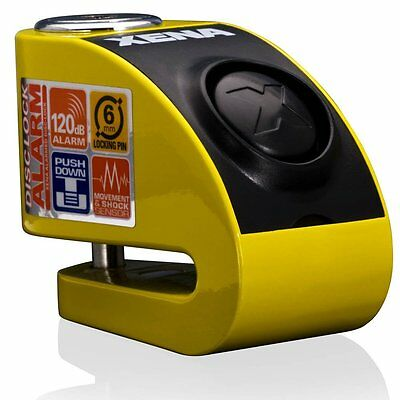 Xena XZZ6 Alarm Motorcycle Disc Lock New Yellow Version for Honda Yamaha etc