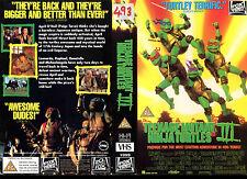 Teenage Mutant Ninja Turtles III - Used Video Sleeve/Cover #16463