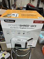 Fellowes Powershred 12 Sheet Cross Cut Paper Shredder White