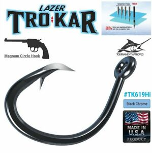 Eagle Claw TK110-5//0 Trokar Surgical Ewg Worm Hook 5CT 23099