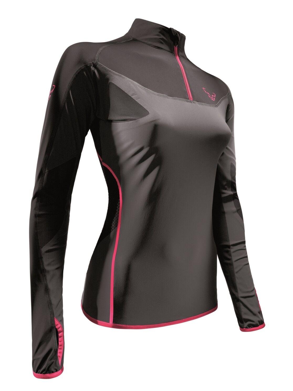 NEW Dynafit RIDGE Grey Womens Large L S Tee Trail Alpine Running T Shirt Ret 140