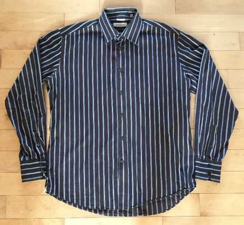 8bc2dde6 VERSACE COLLECTION Button Front Business Fit 17 1 2. 44. Striped Shirt. Mens  nreymi2397-Formal Shirts