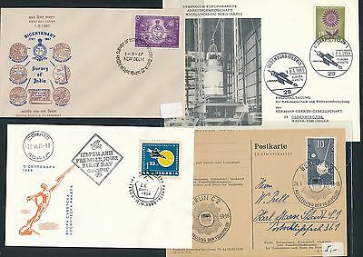 Years 195x 196x Warm Und Winddicht 4 Diff Cds / Covers / Fdc Gewissenhaft 01833 Weltraum Space Raketen
