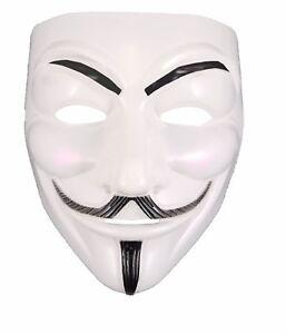 Halloween-Face-Mask-White-Plastic-V-Vendetta-Purge-Anonymous-Ghost-Fancy-Dress
