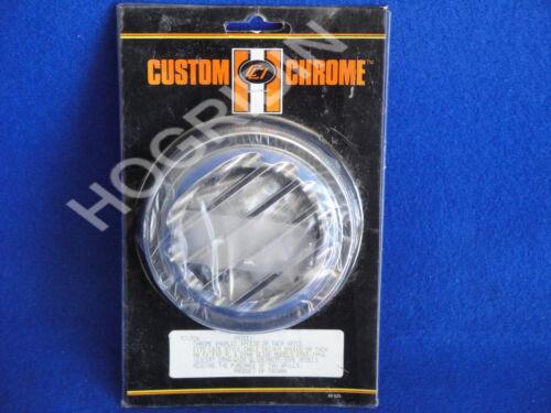 Harley chrome knurled speedometer speedo tachometer tach grill fxr sportster fx