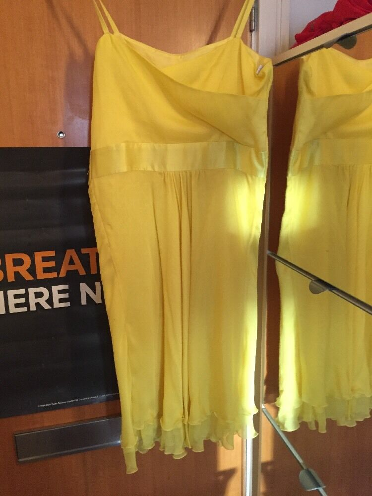 Roberto VERINO SPAGNOLO SPAGNOLO SPAGNOLO Designer SILK giallo dresseu 40 UK12 6d2fd2