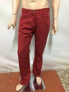 Pantalone-CERRUTI-Taglia-size-34-Uomo-jeans-pants-man-cotone-rosso-P7