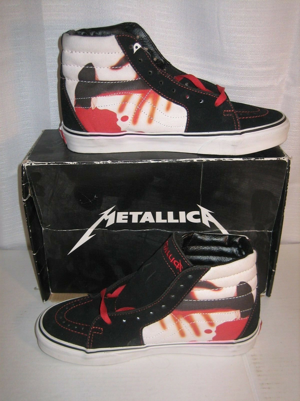 METALLICA KILL EM ALL ALL ALL VANS US 7.5 ANTHRAX SLAYER MEGADETH IRON MAIDEN METAL NWT 96a193