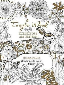 Tangle-Wood-Collector-039-s-Art-Edition-20-Drawings-to-Colour-amp-Keep-by-Jessica