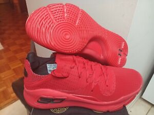 sale retailer e037a 4397b Details about Men's New Under Armour UA Curry 4 Low Red 3000083-600 Size 9