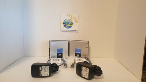 2  UNLOCKED Linksys PAP2T VOIP ATA SELLER REFURBISHED TESTED W//results
