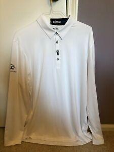 Adidas-Men-s-ClimaCool-Long-Sleeve-Performance-Golf-Polo-White-XL-NWT