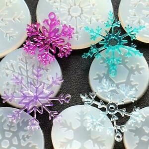 Christmas-Silicone-Snowflake-Moulds-Resin-Jewelry-Pendant-Mold-Making-Craft-U5W8