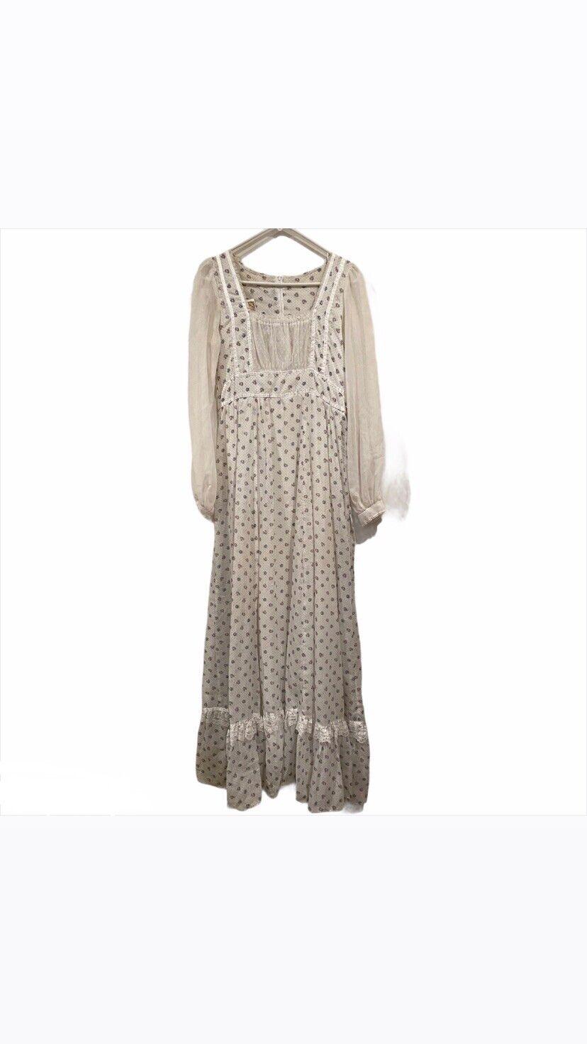 1970's Gunne Sax Prairie Cottage Core Dress - image 10