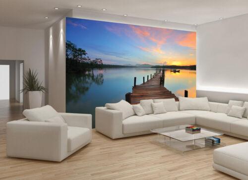 Pier Water Wallpaper Sea Lake Nature Picture Wall Murals Bedroom Living room