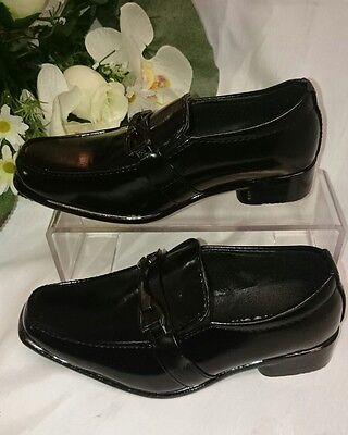 Festliche Jungen Kinder Schuhe Hochzeit Anzug Gr. 32 Kinder SCHWARZ Glanz a-n bv