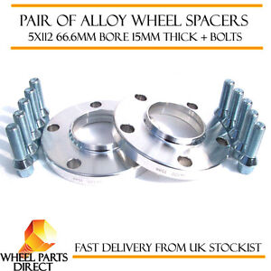 Mercedes-Merc-Alloy-Wheel-Spacers-Spacer-Kit-5x112-66-6-15mm-12x1-5-OE-Bolts