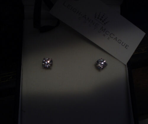 1.CT Man Made Brilliant Round Cut Diamond Stud Screw Back Earrings 925 Silver.