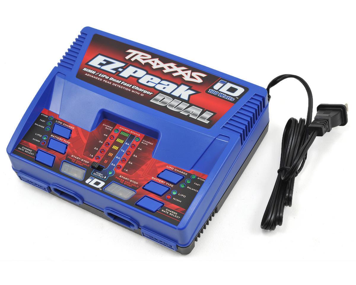 Traxxas 2972 EZ-Pico Multi-química de doble cargador de batería con ID (3S 8A 100W)