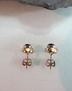 Ohrstecker-Ohrringe-585-Gelbgold-violette-Steine-sehr-elegant-Amethyst-T20