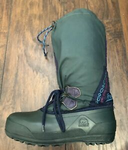 cheap sale detailed pictures fashion Details about SOREL FREESTYLE SNOW BOOTS WOMENS 6 GREEN WINTER RUBBER  DUCKBOOT LINED