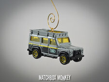Custom Gray Land Rover Range Rover Defender 110 Christmas Ornament 1/64 Adorno