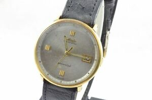 977c199fcd4 Mido Powerwind Automatic Men s Watch 1 15 32in Gold Plated Rar