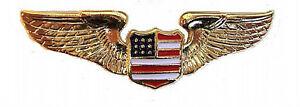 CHROME Pilot//Aviation USA Crest EMBLEM Honda Goldwing GL 1100 1200 1500 1800