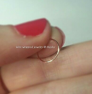 Nose Ring //Cuff 22k SOLID Gold Small 24g Hoop Earring Cartilage Helix Tragus