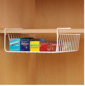 small under shelf basket create storage under shelf or. Black Bedroom Furniture Sets. Home Design Ideas