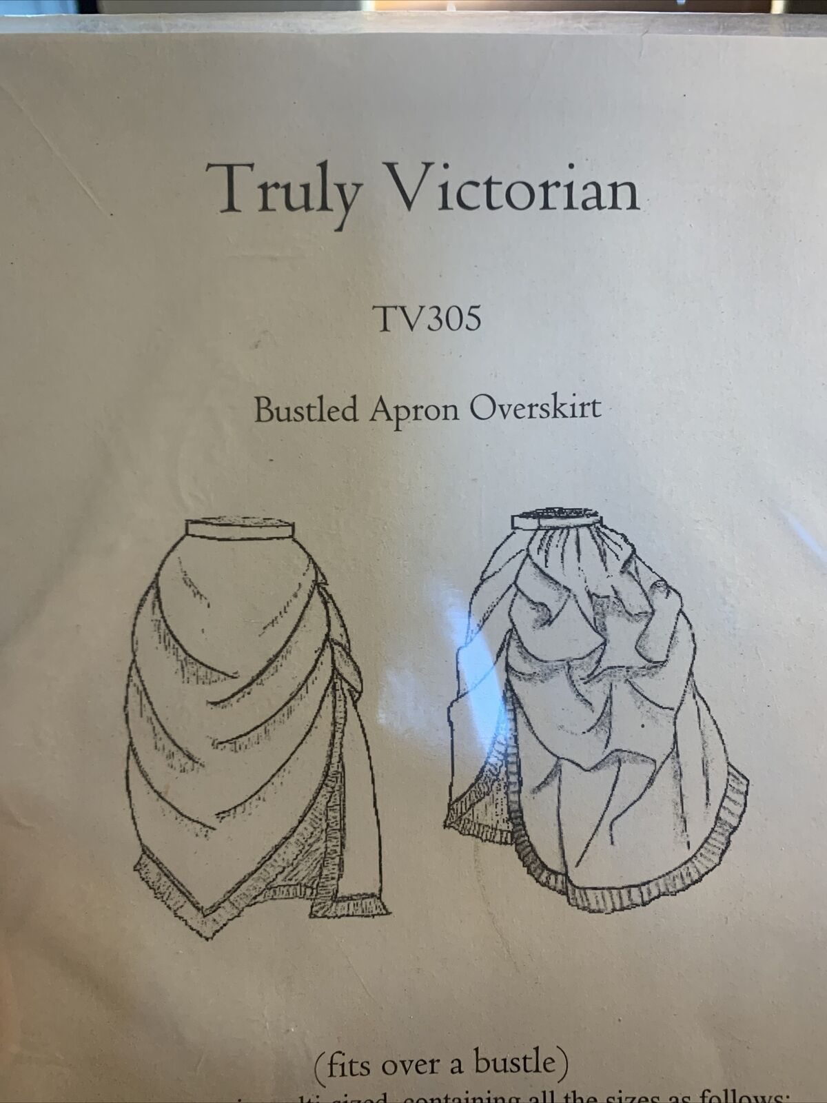 Truly Victorian Sewing Pattern TV305 Bustled Apro… - image 1