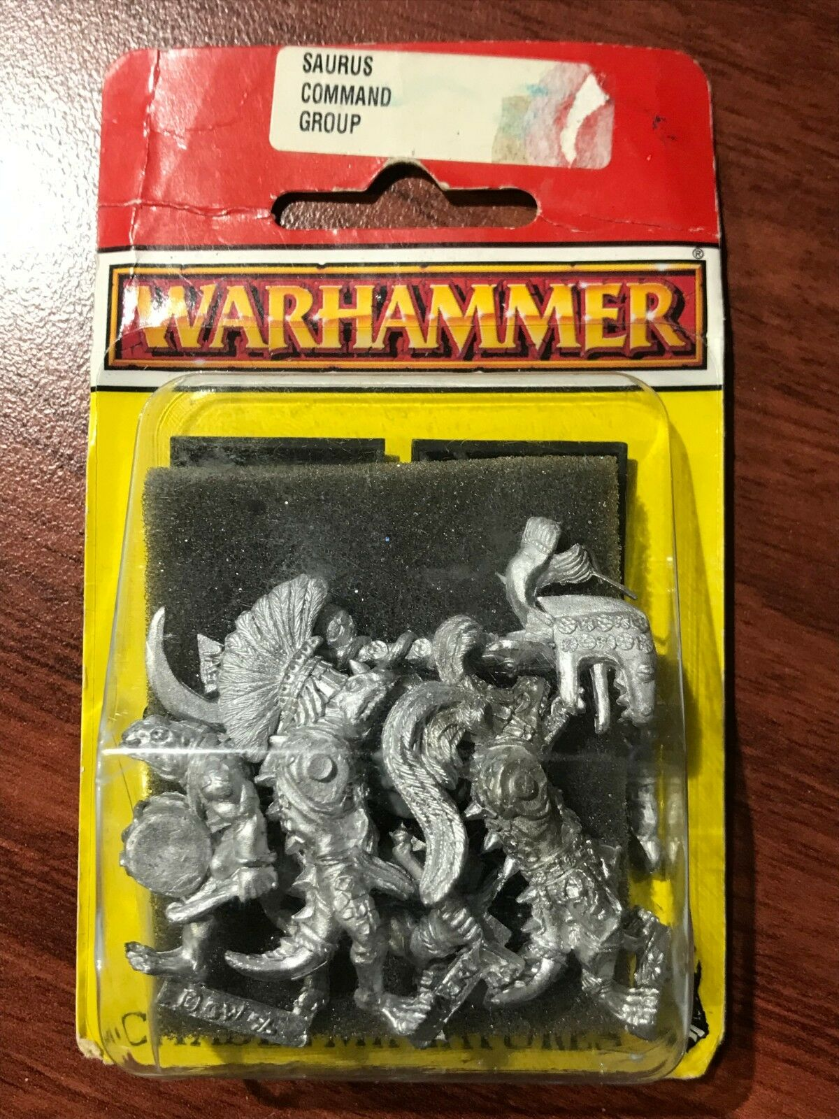 Warhammer Saurus Command Group 1990's Metal
