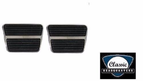GM Chevy Pontiac ** Clutch /& Brake ** PAIR Pedal Pad W// Stainless Steel Trim