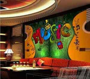 3D Guitar Music art 463 Paper Wall Print Decal Wall Wall Murals AJ