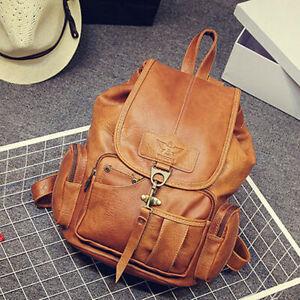 Women-Leather-Vintage-Backpack-Shoulder-School-Travel-Bag-Satchel-Rucksack-Tote