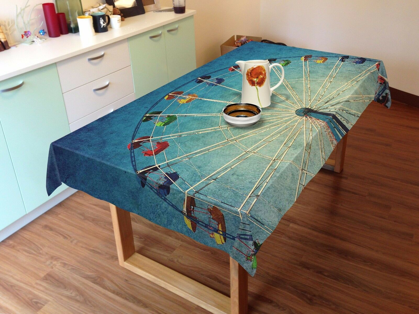 3D Wheel 883 Tablecloth Table Cover Cloth Birthday Party Event AJ WALLPAPER AU