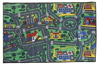 Children's Mats Baby Rug Kids CITY ROADS Play Car Play Mat Track Floor 100 x 150