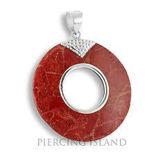 Sehr edler 5cm ECHT 925er Silber Anhänger Rote Koralle Handarbeit PS518