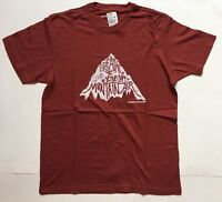 Eddie Bauer Mens Short Sleeve T-shirt Flag Red Mountain Size Xl
