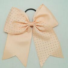 Rhinestone Bling 8 Inch Cheer Hair Bow with Elastic Band Cheerleading CB012