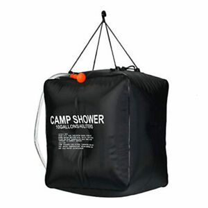Portable 40L Solar Camping Shower Outdoor Hiking Heated Bathing Water Bag UTV