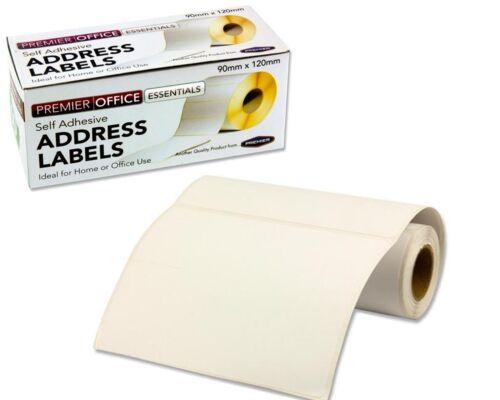Autoadesivo Bianco Etichette indirizzo grande affrancatura Appiccicoso Adesivo Rotolo di 250 /& 60
